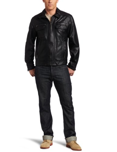 Calvin Klein Men's Bomber Jacket, Black, Large