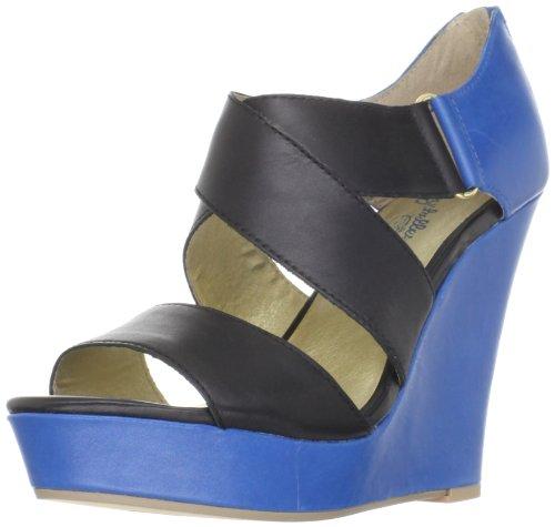 Seychelles Women's Last But Not Least Wedge Sandal,Black/Blue,11 M US