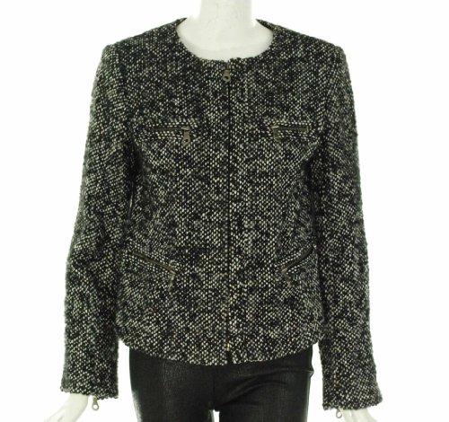 Sutton Studio Tweed Zip Jacket Black/White 4
