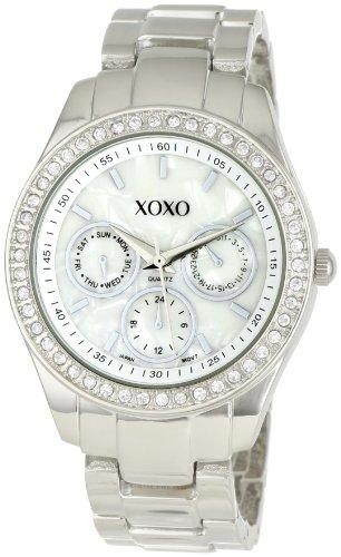 XOXO Women's XO5301A Rhinestone Accent Silver-Tone Bracelet Watch