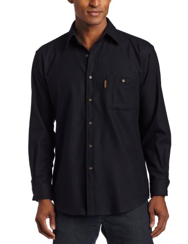 Pendleton Men's Long Sleeve Trail Shirt with Elbow Patch – Regular, Navy, Large