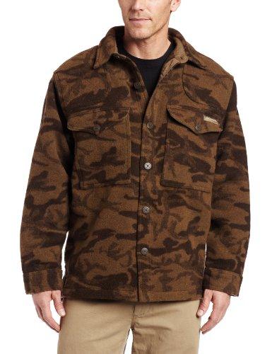 Columbia Men's Gallatin Range Shirt Jacket,BROWN WOOL CAMO,Large