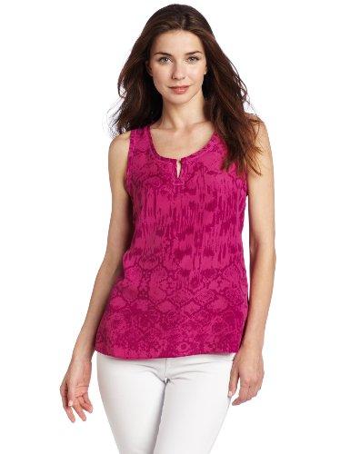 Calvin Klein Jeans Women's Snake Print Tank Top, Magenta, Large