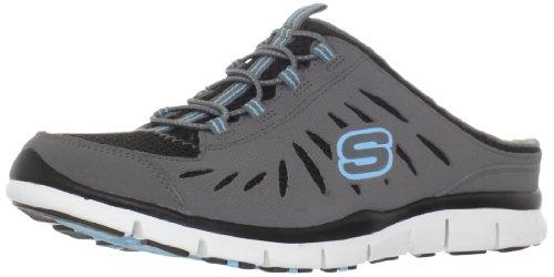 Skechers Women's Rejuvenate Fashion Sneaker,Charcoal/Black,6 M US