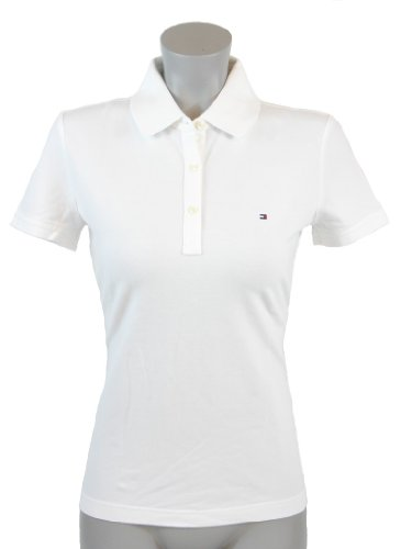 Tommy Hilfiger Classic Fit Womens Pique Polo Shirt – X-Large – White