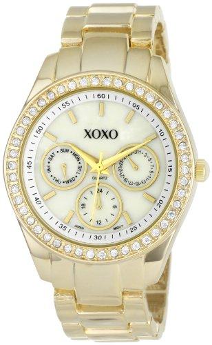 XOXO Women's XO5302A Rhinestone Accent Gold-Tone Bracelet Watch