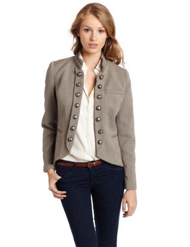 Kensie women's Faded Tweed Jacket, String Mix, Medium