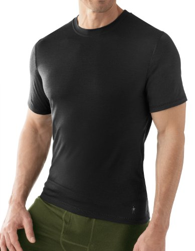 Microweight Tee Short Sleeve T-Shirt – Men's Black MD by Smartwool
