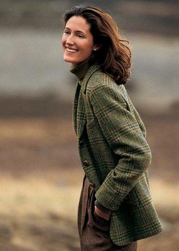 Castle Island Tweed Plaid Jacket / Regular, Green Plaid, 20