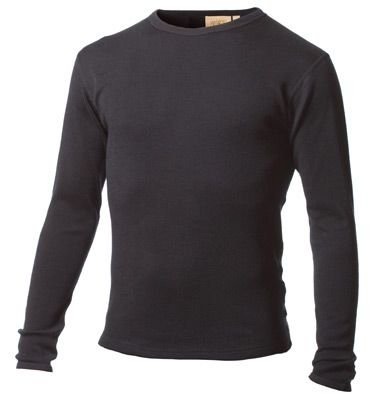 Minus33 100% Merino Wool Base Layer 705 MidWeight Crew Neck Top Black Medium