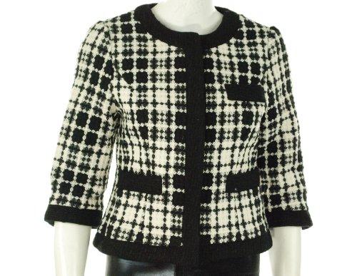 Aqua Tweed Jacket Black/White X-Small