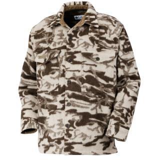 Columbia Men's Gallatin Range Shirt Jacket (Snow Wool Camo, Small)