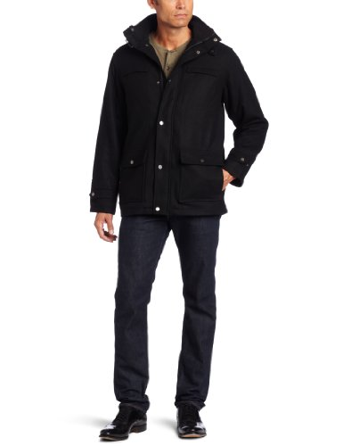 Boston Harbour Men's Soft Wool Jacket – Big, Black, 3X-Large