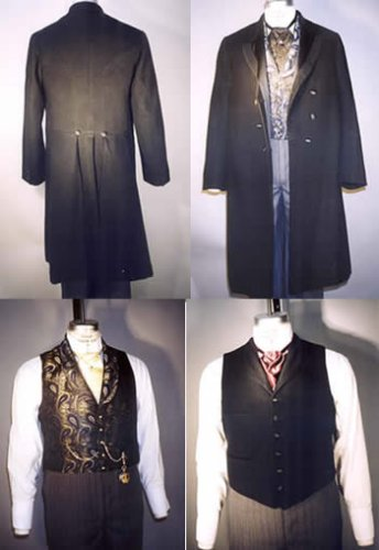 Men's Frock Coats Single and Double Breasted & Two Vests Pattern (1850 – 1915)