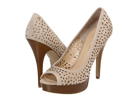 Enzo Angiolini Women's Sully9 Platform Pump,Natural Suede,6 M US