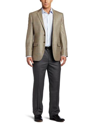 Joseph Abboud Men's 2 Button Side Vent Sport Coat, Olive, 42 Medium/Regular