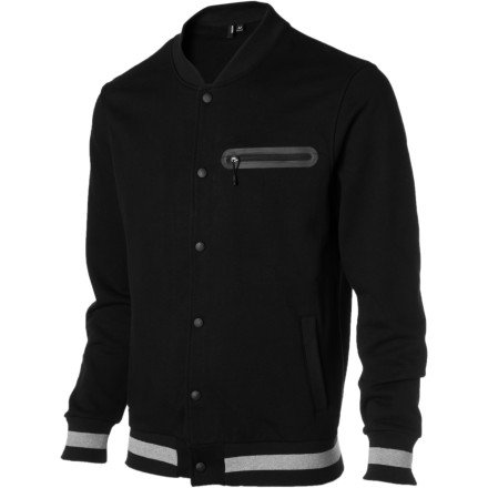 Nixon Onyx Button Up Crew Jacket – Men's Black, S