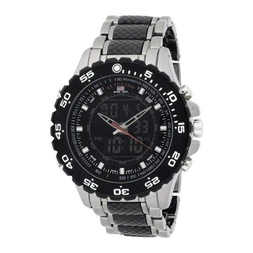 U.S. Polo Assn. Men's US8170 Analog-Digital Black Dial Gun Metal Bracelet Watch