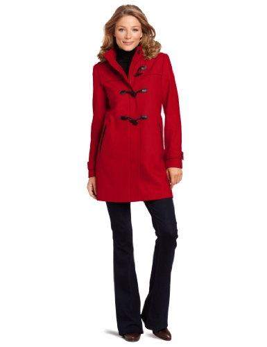 Tommy Hilfiger Women's Hooded Toggle Coat, Cardinal Red