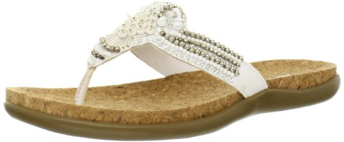 Kenneth Cole REACTION Women's Glam Gal Flip Flop,White,8 M US