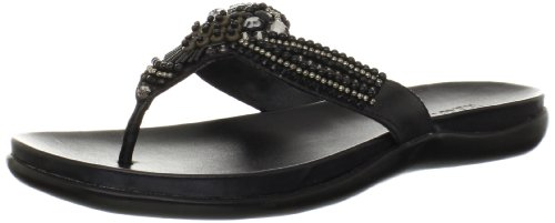 Kenneth Cole REACTION Women's Glam Gal Flip Flop,Black,6 M US