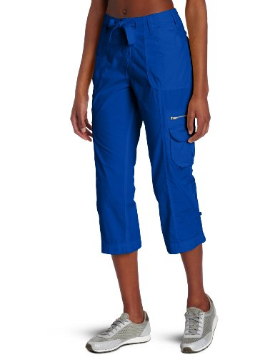 Calvin Klein Performance Women's Multi Pocket Convertible Capri, Marine, Small