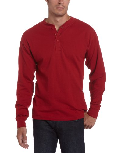 Mountain Khakis Men's Trapper's Henley Shirt (Engine Red, Large)