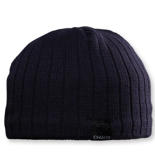 Chaos Technician Men's Fine Guage Beanie with Fleece Band (Navy, Unisex)