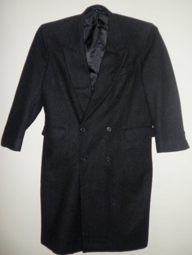 VINCENZO-Italy – Full Length Black WOOL Men Suit Coat