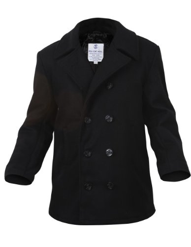 ROTHCO WOOL PEA COAT – BLACK – M