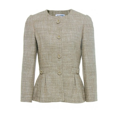Helene Berman Women's Tweed Peplum Jacket UK 12 Gold