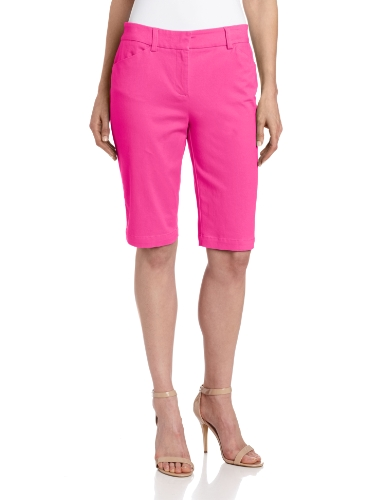 Jones New York Women's Classic Bermuda Short, Hot Pink, 6