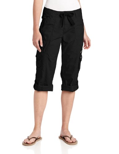 Calvin Klein Performance Women's Multi-Pocket Convertible Cargo Capri 22 Inch, Black, X-Large