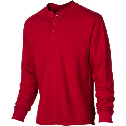 Mountain Khakis Men's Trapper's Henley Shirt (Engine Red, X-Large)