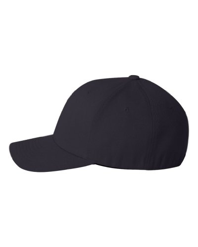 Flexfit Fitted Mid-Profile Structured Wool Cap (DarkNavy, Large/X-Large)