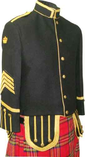 Military Tunic Doublet Jacket Bagpiper Or Drummer Custom