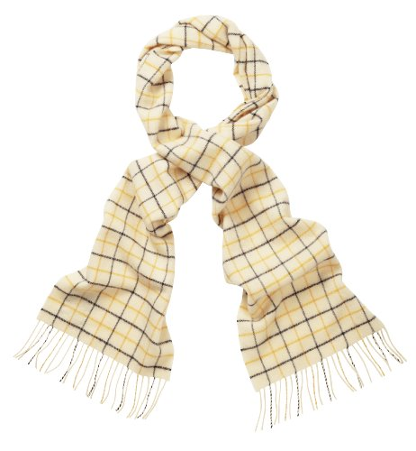 Scottish Lambswool Check Scarf (Autumn Buchanan)
