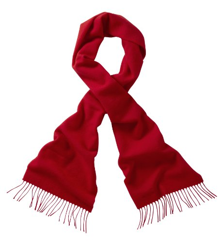 Scottish Lambswool Scarf (Red)