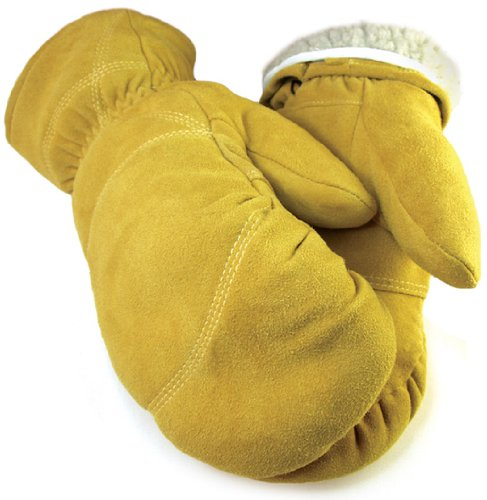 Deerksin Leather Mitten with Pull Out Liner – Leatherbull (Free U.S. Shipping) (L, TAN)