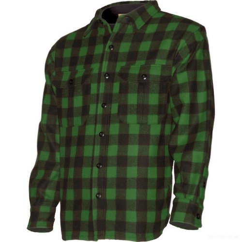 Minus33 Merino Wool White Mountain Sportsman Work Shirt, Green Plaid, Medium