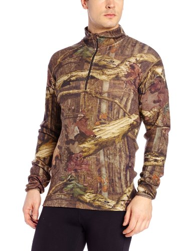 Minus33 Merino Wool Men's Isolation Midweight 1/4 Zip, Mossy Oak, X-Large