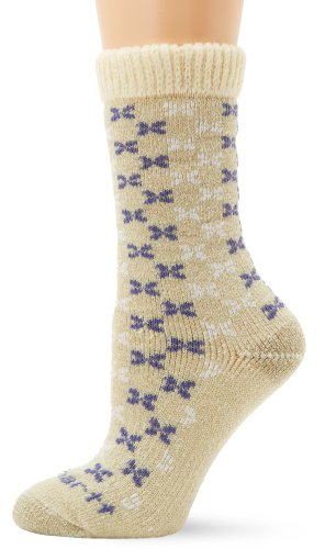 Carhartt Women's Heavyweight Wool Boot Sock With Sweater Top, Khaki, Medium