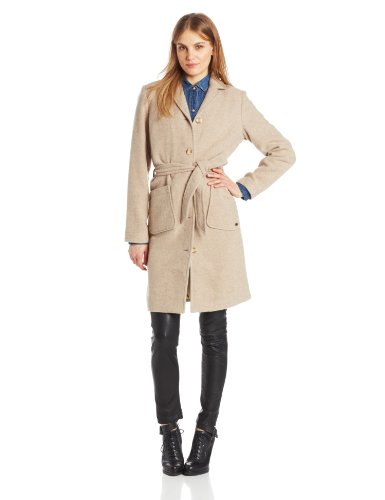 Carve Designs Womens Linden Wool Coat, Oatmeal, Large