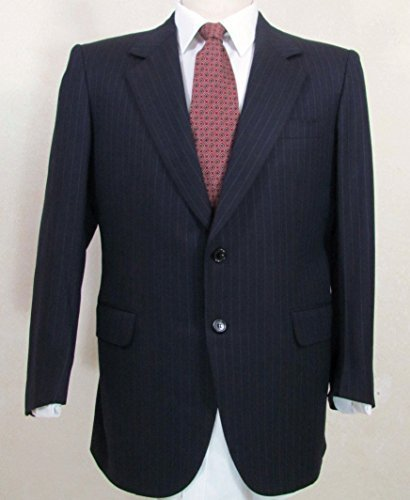 BRIONI Black Stripe Wool Men's Sport Coat Blazer 42 S Short