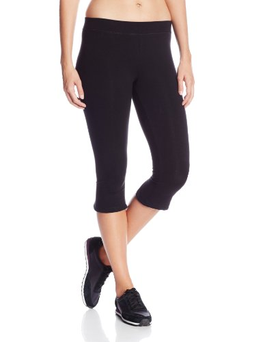 Calvin Klein Performance Women's Over The Knee Capri with Back Slit, Black, Medium
