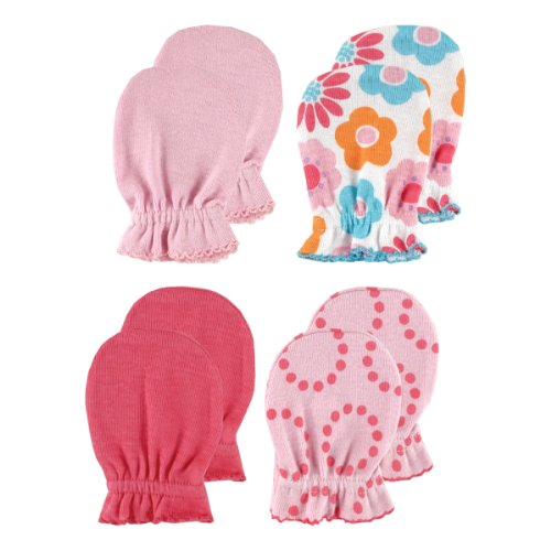 4-Pack Scratch Mittens, Pink Patterns