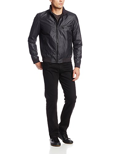 Calvin Klein Jeans Men's Canvas Nylon Jacket, Black, Small