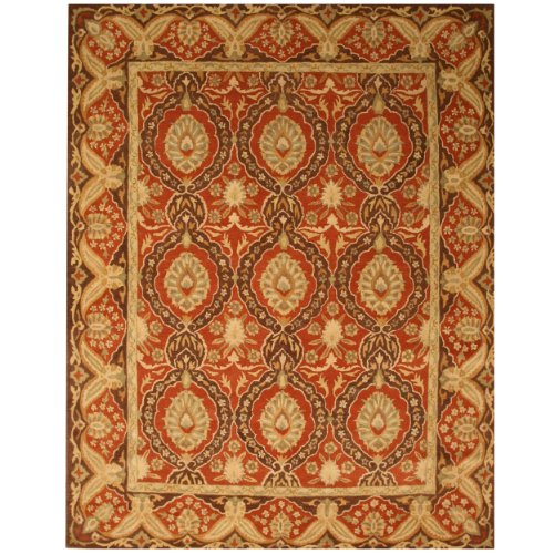 EORC IE31RD Hand Tufted Twisted Wool Khyber Rug, 8.9 by 11.9-Feet, Brown