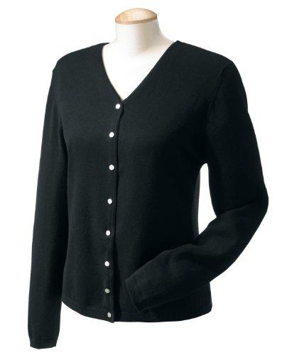 Ladies' V-Neck Sweater – BLACK – L Ladies' V-Neck Sweater