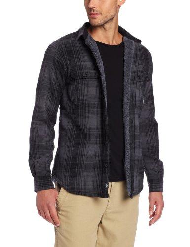Columbia Men's Windward II Overshirt, Black Plaid, X-Large